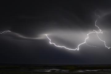 storm en bliksem